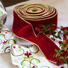 Christmas Tree Ribbons & Garlands