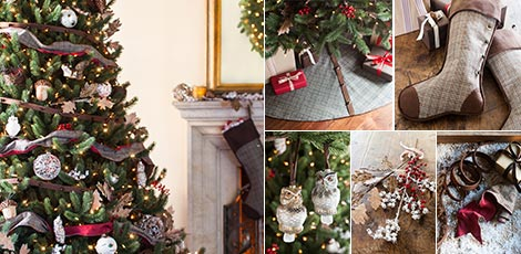 Woodland Capture the beauty of nature with rustic Christmas decorations in  rich earth tones. Shop Now