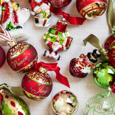 ornament sets - Photos Of Decorated Christmas Trees