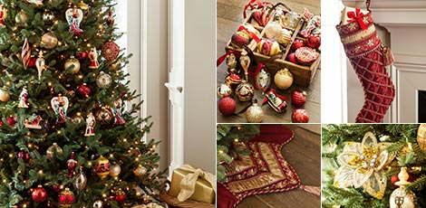 Noel Create a heartwarming Christmas scene in your home with the luxurious  colors of burgundy and gold. SHOP NOW