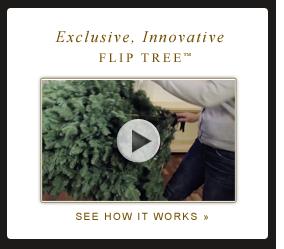 Easy Setup Artificial Christmas Flip Trees Balsam Hill