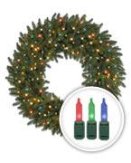 Multi-lit Christmas Wreaths