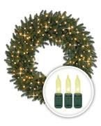 Clear-Lit Christmas Wreaths